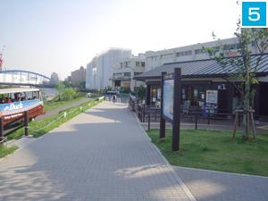 5 水辺公園内「川の駅」に到着!!