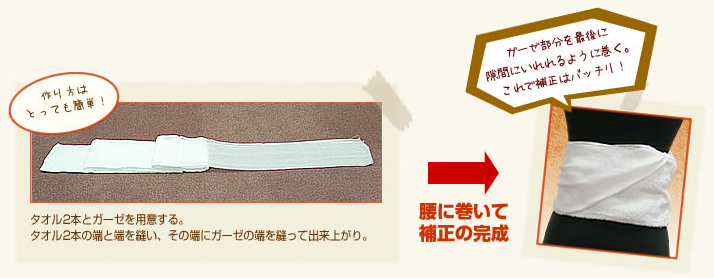 「補正タオル」の作り方