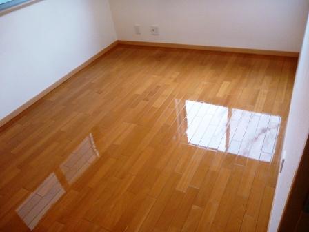 床・CF・クッションフロア清掃後の写真