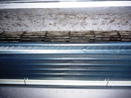 天井埋め込みタイプエアコンクリーニング前の写真