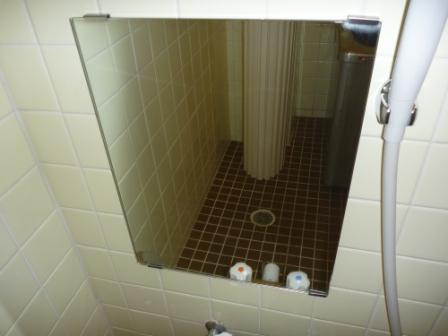 お風呂の鏡そうじ後の写真