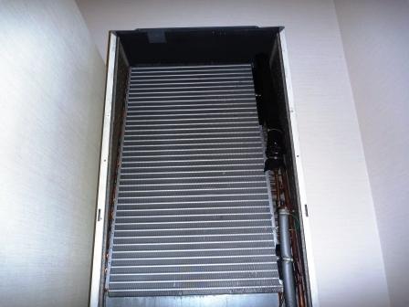 ダイキン床置形エアコンアルミフィン洗浄後の写真