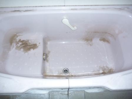 浴室バスタブクリーニング前の写真