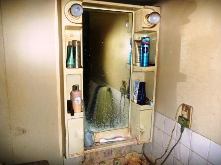 洗面所クリーニング前の写真