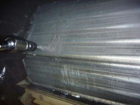 エアコンアルミフィン洗浄前の写真