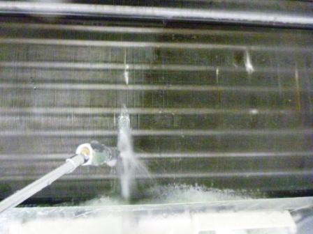目黒区、お掃除機能付きエアコンクリーニング前の写真