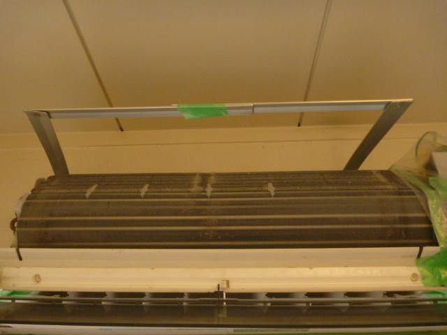 大田区、エコ洗剤お掃除機能付きエアコンクリーニング後の写真