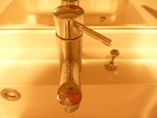 大田区、洗面台クリーニング前の写真