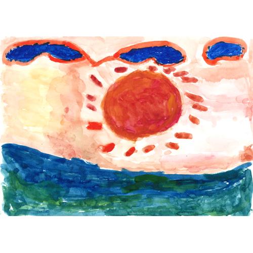 夏の太陽と海/杉森 弘康