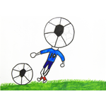 かめだ ゆうき(亀)/サッカーマニアのサッカー