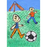 N.T/自分が想像する友達とのサッカー