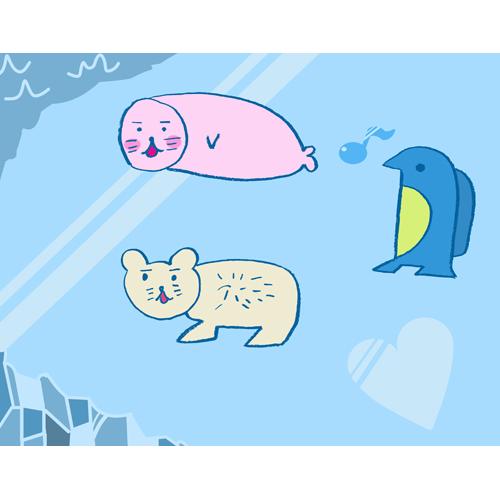 氷上の生きものファミリー/野上 哲