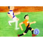 好川博/試合でボールを蹴っている風景