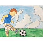 板谷咲希/小さいサッカー
