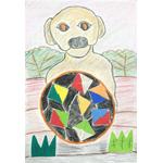 佐竹久美/子犬とサッカーボール