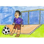 市川 新/サッカー試合の絵