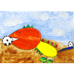 近江 嶺/きょうりゅうのサッカー