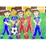 木村 日菜子/5人のサッカーボール
