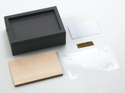 レザーフォトBOX(L)の素材カット