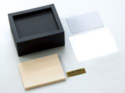 レザーフォトBOX(M)の素材カット