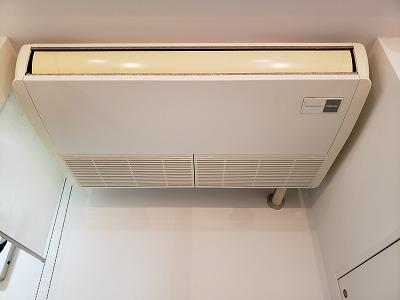 東京都大田区、天井吊下げ型業務用エアコンクリーニング
