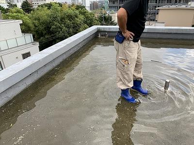 東京都大田区、雨漏り診断、防水工事・修理・修繕作業画像