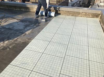 東京都目黒区、雨漏り診断、防水工事・修理・修繕作業画像