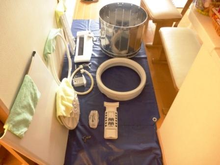 東京都大田区、洗濯機分解清掃