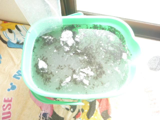 大田区、エアコンクリーニング後の汚水