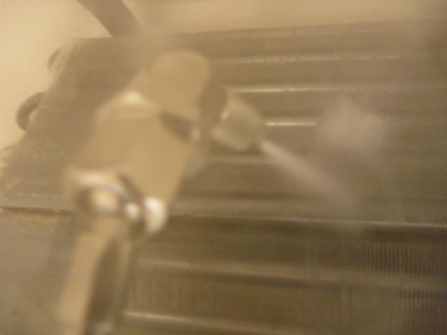 神奈川県川崎市幸区、日立フィルター自動お掃除機能付きエアコンクリーニング洗浄中