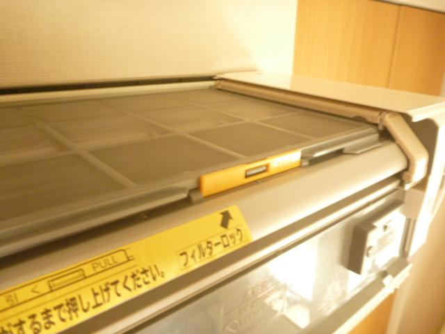神奈川県川崎市中原区、日立製フィルター自動お掃除機能付きエアコンクリーニング後