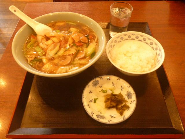 東京都大田区蒲田、中華レストラン、新ポン太のポン太めんとライス
