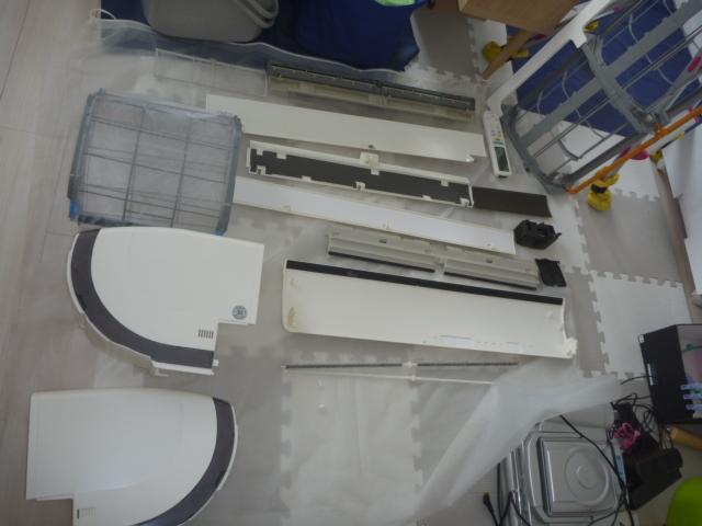 東京都大田区、エアコンクリーニング会社ライフサポートサービス「まごころ」、お掃除機能付きエアコン洗浄完了