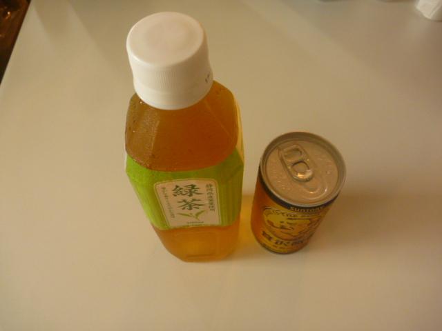 東京都大田区久が原、エアコンクリーニングのお客様から頂いた、飲み物