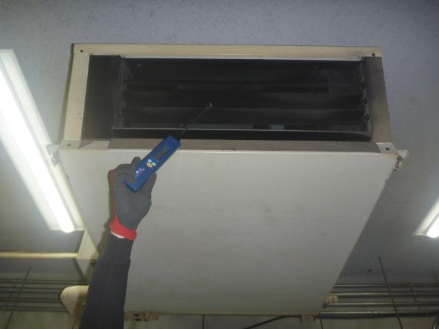 東京都品川区、天井吊り形業務用エアコンクリーニングの画像