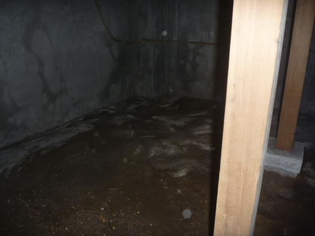 東京都大田区、戸建て住宅床下内部壁面・床面清掃作業