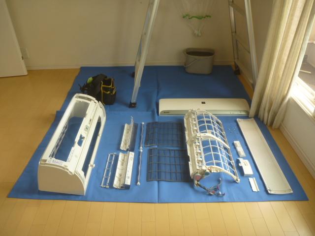 東京都大田区上池台、戸建てお掃除機能付きエアコンクリーニング