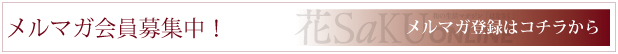 和の生活マガジン「花saku」編集部がお届けするメルマガ会員を募集しています。今すぐご登録を